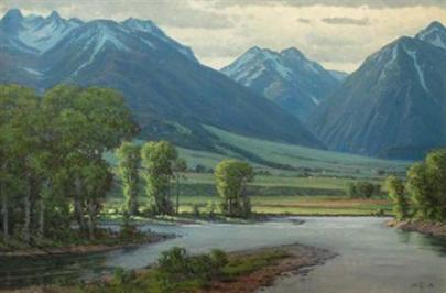 Yellowstone River Painting by Jim Dick