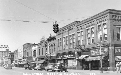 Downtown Main Street Bozeman, Montana