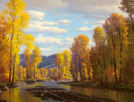 Gallatin River Autumn Manhattan Montana Jim Dick