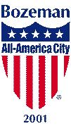 Bozeman Montana All American US City Logo