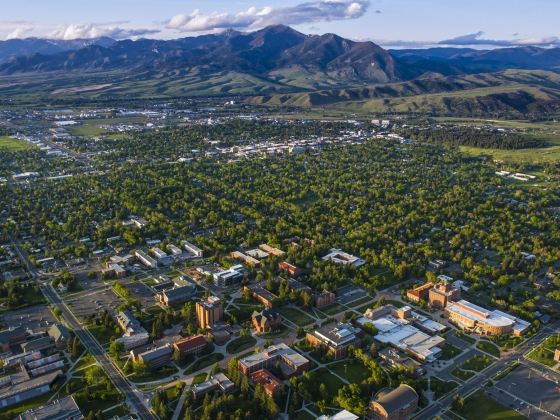 Bozeman Montana Aerial Photo