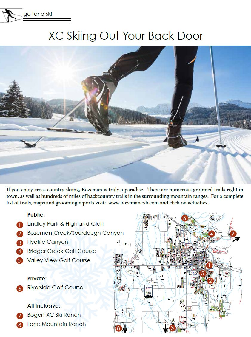 Bozeman Cross Country and Nordic Ski Areas