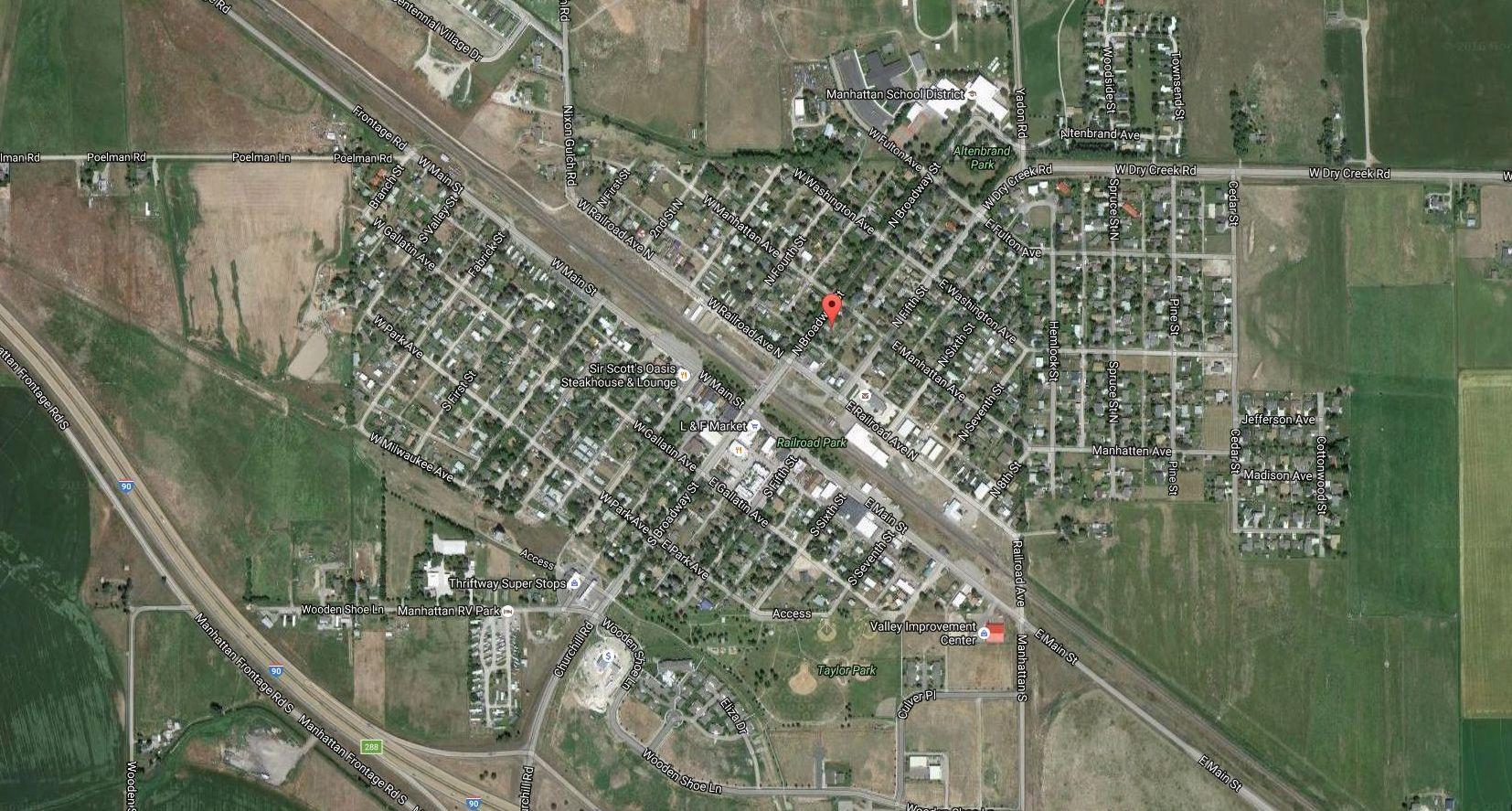 Manhattan Montana aerial map