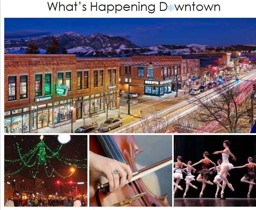 Downtown Bozeman Montana Winter Events