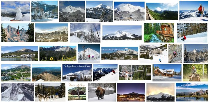Big Sky Real Estate Summer and Winter Photo Montage