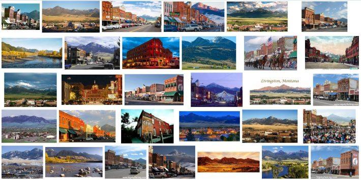 Livingston Montana Photo Montage