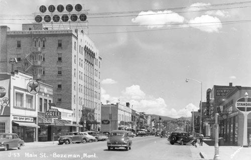 Downtown Bozeman MT Hotel Baxter Early 50's