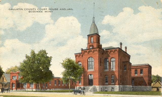 The first Gallatin County Courthouse was designed B & FW Vreeland 1880
