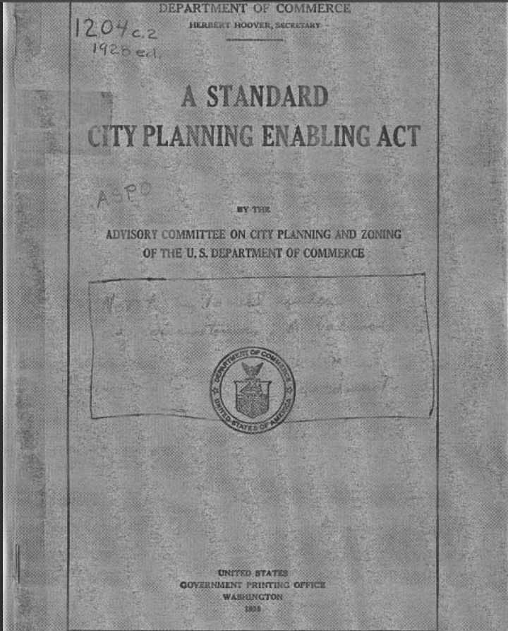 (SCPEA) Standard City Planning Enabling Act of 1928