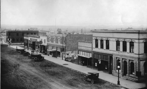 Main Street 1917 Three Forks Montana