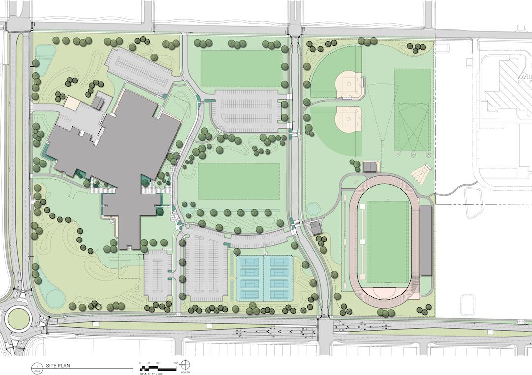 New Bozeman High School Site Plan