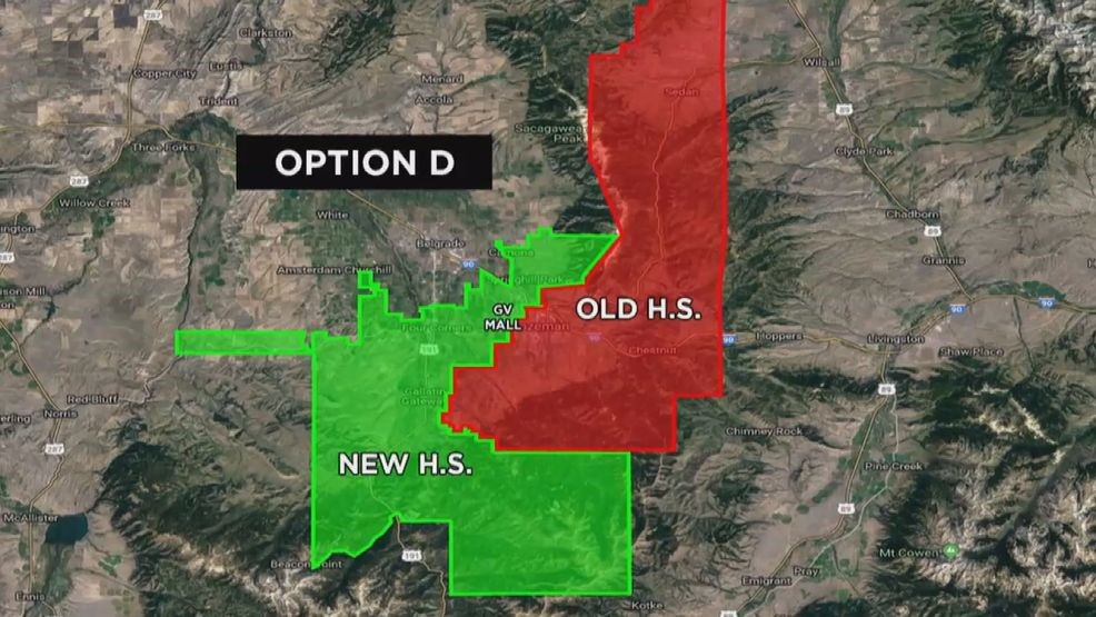 Bozeman High and Westslope High School Boundaries