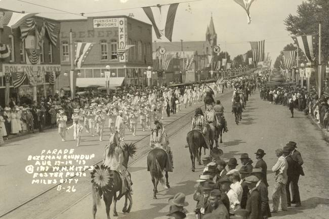 Bozeman Indian Parade 1913 Photo