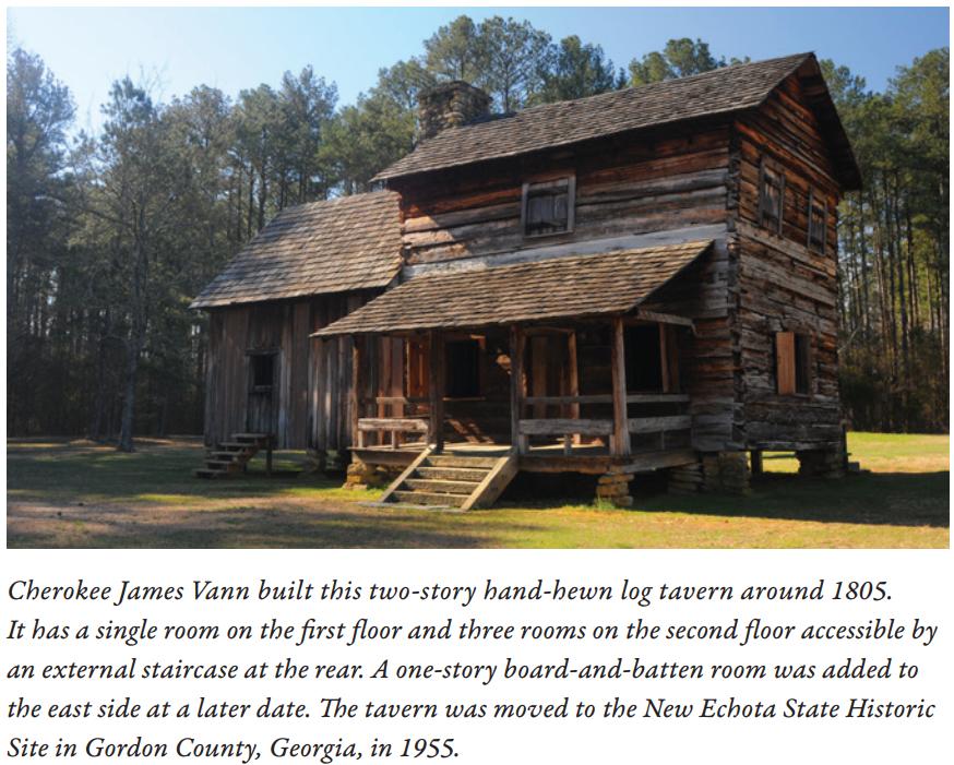 Cherokee James Vann Log Cabin 1805 - NPS Photo