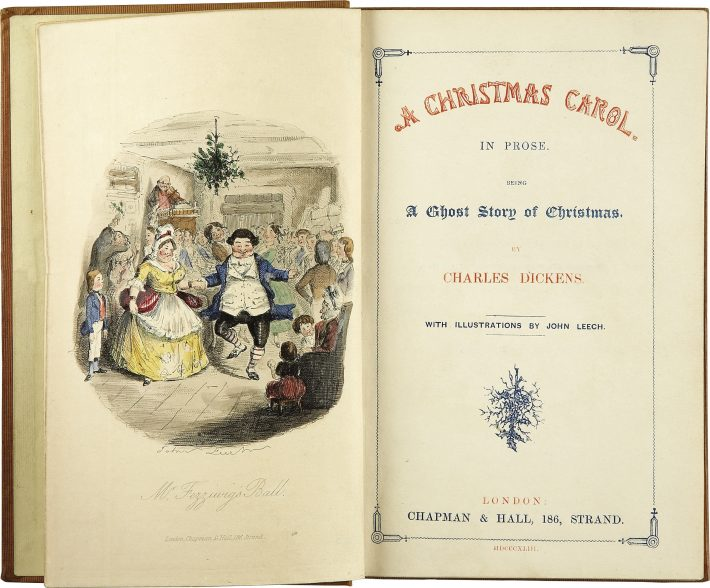 Charles Dickens, A Christmas Carol, First edition, 1843, John Leech Illustrator