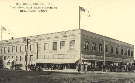 Early Belgrade Montana Mercantile Photo
